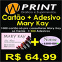 Cartão De Visita Mary Kay + 500 Adesivos