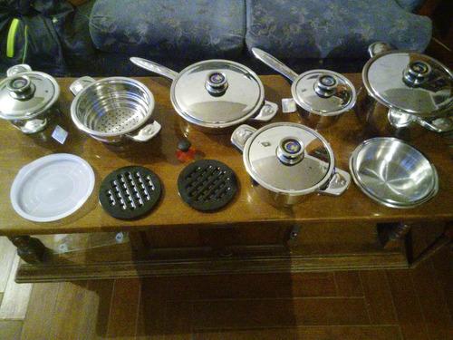 Bateria de cocina acero quirurgico 16 piezas ultimas for Bateria de cocina alemana