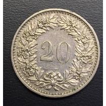 Swi221 Moneda Suiza 20 Rappen 1974 Xf Ayff