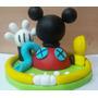 Adornos Para Tortas O Central En Porcelana Fria Casa Mickey