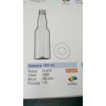 Botella Pet Salsera 180ml 24/410 Incluye Tapa
