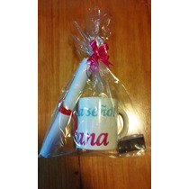 Tazas Personalizadas Dia Del Maestro + Chocolate + Diploma