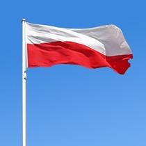 Rara!! Bandeira Comunista Polonia Pol Sovietica Original 1mt