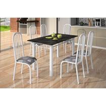 Conjunto Mesa Jantar Cozinha 6 Cadeiras Paris