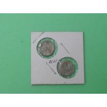 Super Ganga, 2 Monedas De 10 Cent. Incompletas Error