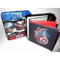 Cartera Slimfold Marvel De Cuero Civil War