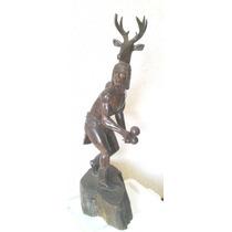 Figura Esculpida - Madera Palofierro La Danza Del Venado Jbr