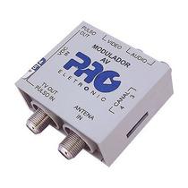Mini Modulador Audio E Video Pqmo-2240 Canal 3/4 Com Fonte