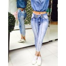 Calça Jeans Cropped Com Elastano Revanche