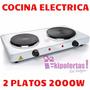 Cocina Encimera 2 Plato Electrica 2000w Portatil Providencia