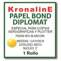 Papel Bond Diplomat Ke514 0.61x100 Mt N3 75 Gr Hp,epson,cano