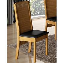 Conjunto De 2 Cadeiras Olimpia Castanho/preto - Cel Móveis