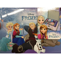 Frozen, Lonchera Metálica Con Artículos De Belleza.