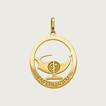 Pingente Enfermagem Em Ouro 18k (750)