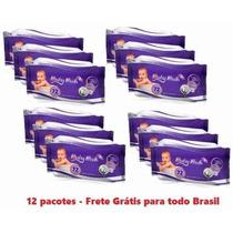 Kit C/12 Lenços Umedecidos Baby Bath864 Unidades Frete Grati
