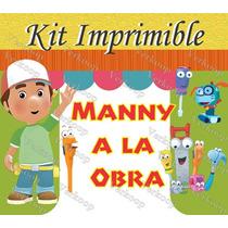 Kit Imprimible Manny A La Obra Fiesta Invitaciones Tarjetas