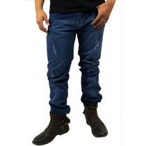 Pantalones Para Hombre De Mezclilla Estilo Cholo