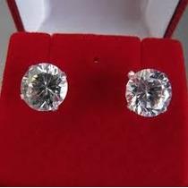 Brinco Masculino Em Prata 925 Com Pedra Diamante Sintético