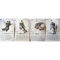 Pin De Pewter Genuino Jonette Artifacts Set 4 Arcángeles Vbf