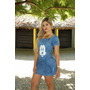 Roupa Feminina - Vestido Jeans Mickey Modinha Com Tenis