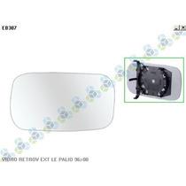 Vidro Retrovisor Externo Esquerdo Fiat Palio 96/00 - Spj