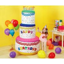 Pastel Cumpleaños Inflable Jumbo Gigante