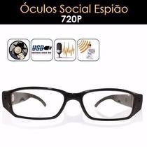 Óculos Espião Com Camera Espiã, Modelo Social Hd 720p
