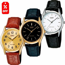 Reloj Casio Mtp 1094 - Varios Modelos - Correa De Piel- Cfmx