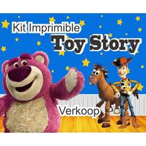 Kit Imprimible Toy Story Invitaciones Tarjetas Marcos Fondos