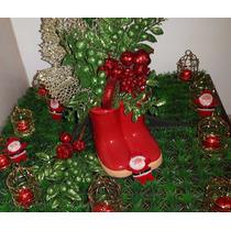 Kit 8 Enfeites Natal Papai Noel, Árvore, Botinhas, Natalina.