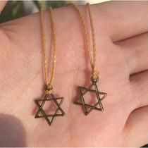 Colar Regulagem Amuleto Da Sorte - Estrela De David