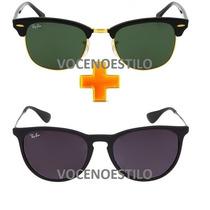 Oculos Feminino Masculino Pague 1 Leve 2 Rayban