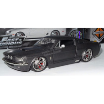 1:24 Shelby Gt-500 1967 Gris Mate Jada Toys Mustang Display