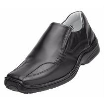 Sapato Social Alcalay Relax Conforto Liso Mestiço Preto