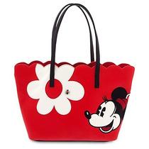 Bolsa Dama Tipo Piel Minnie Mouse Floral Disney Store 2016