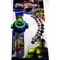 Relógio Infantil Com Projetor De Imagem Os Vingadores Hulk