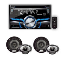 Combo Stereo Clarion Cx305 + 4 Parlantes Clarion 5,25 Pulg
