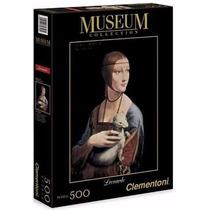 Quebra Cabeça 500 Peças Leonardo Da Vinci: Dama Com Arminho