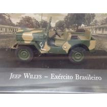Miniatura Jeep Willys Exército Brasileiro - Veículos Serviço