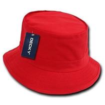 Gorra Sombrero Del Pescador Decky Rojo, Small / Medium