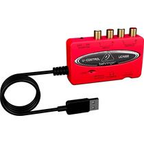 Interface Audio Behringer U-control Uca222 Usb Placa De Som