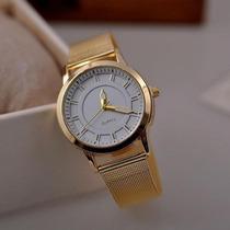 Precioso Reloj Dorado De Mujer - Oferta !!!!!