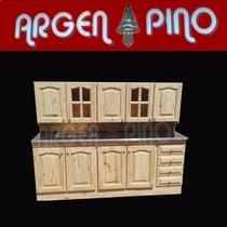 Argen Pino Combo 2,00 Alacena + Bajomesada + Mesada Fabrica
