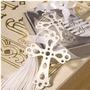 Marcador De Paginas Cruz Batizado - Aço 20 Peças