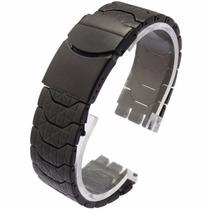 Pulseira Aço Preta P/ Relógios Swatch 19mm Irony Clássico