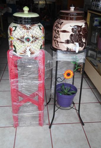 Muebles Metal : Dispensador portagarrafon de ceramica con llave para agua