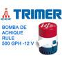 Bomba De Achique Sumergible- Rule 500 Gph - 12 V