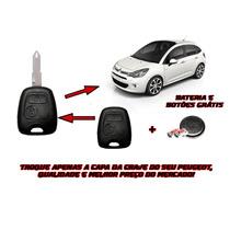 Capa Chave Botões E Bateria Citroen C3/picasso/berlingo-10n