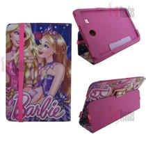 Capa Carteira Barbie P/ Tablet Samsung Galaxy Tab E 9.6 T560