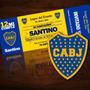 Tarjetitas De Invitación Fútbol / Cumpleaños / Boca Juniors